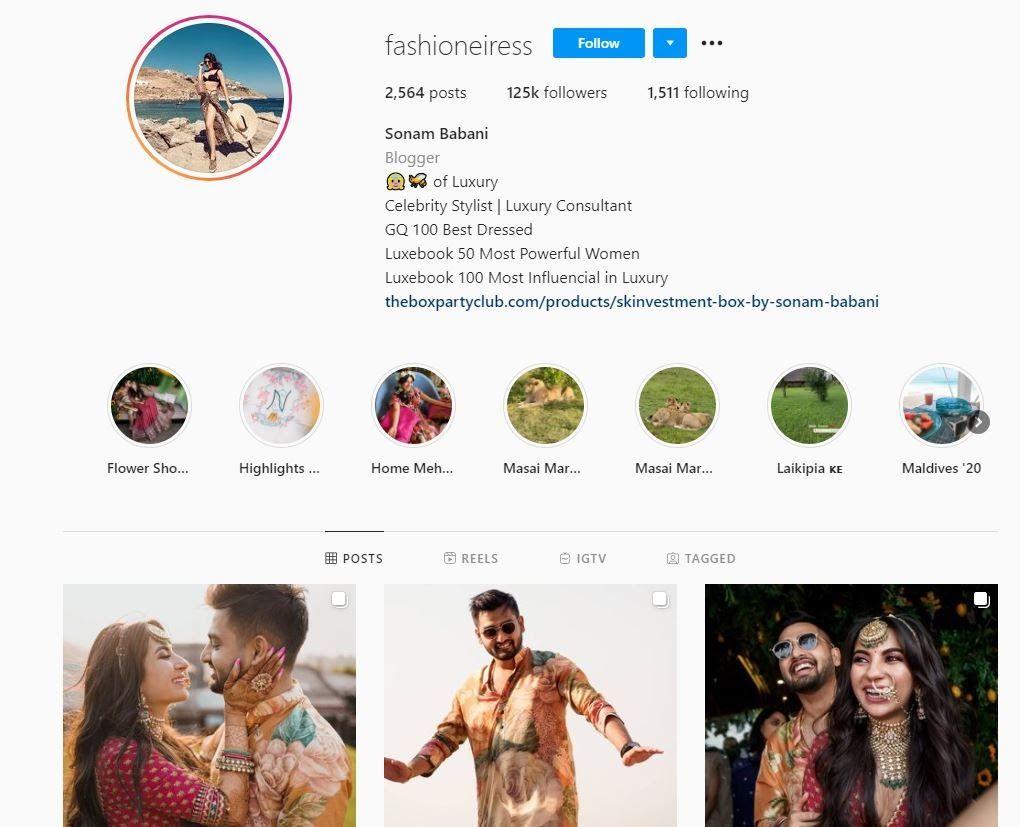 instagram handle