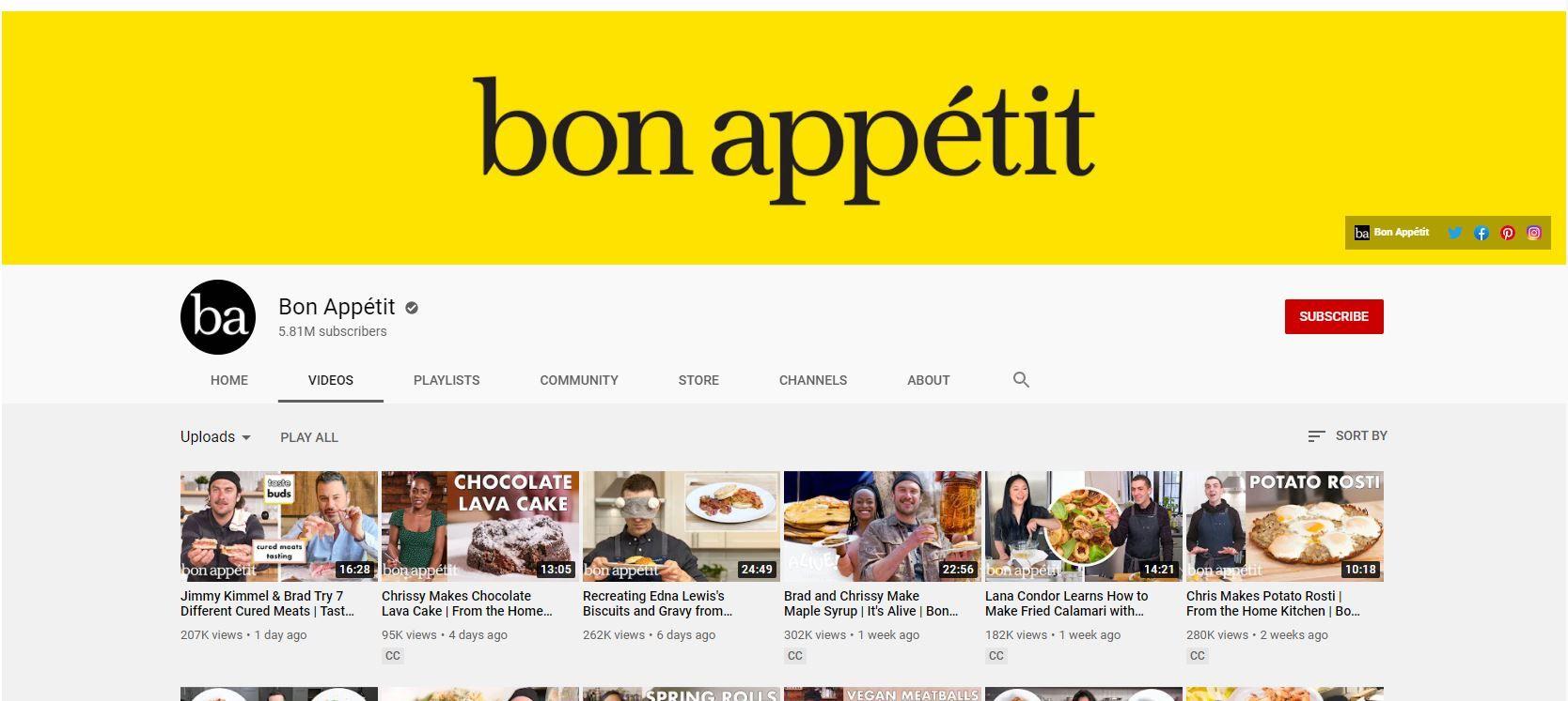 youtube channel bon appetit