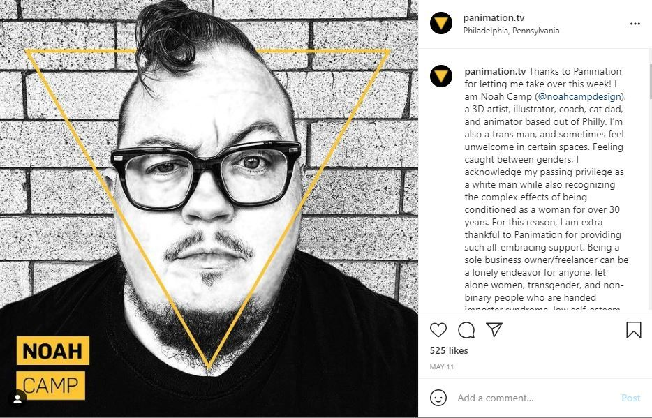 in feed instagram takeover example