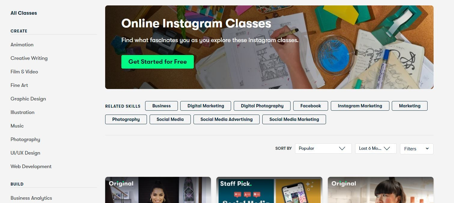 instagram courses