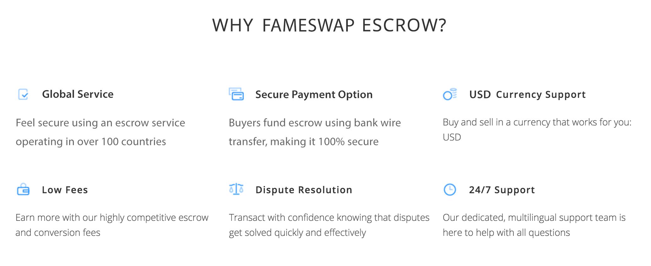 Fameswap Escrow Service